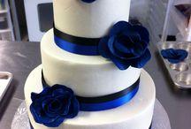 blå wedding cake