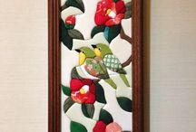 cuadro con pájaros