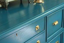 DIY Painted dresser makeover