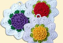 Crochet potholders, dishcloths, trivets and coasters / by Linda Juhl