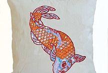 Decorative fish pillow
