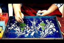 pintura sobre agua