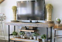 Home Inspiration - Living space / living space, living room decor, cozy living space, white decor, family room, den