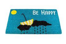 """Felpudo """"Be Happy"""" / Felpudos Originales Maceta Colorá www.macetacolora.com"""