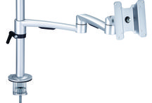 Monitor Arm / The double monitor arm EA-212, is an elegant double monitor arm that combines strength with ease of movement. Thanks to an internal gas strut, it gives the users fingertip control over monitors that weigh up to 8 Kg pr. arm.