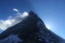 Matterhorn (4478m) / Képek a Matterhorn-ról:  mászás előtt, közben és után. Picture of Matterhorn about climbing.