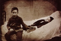 Memento Mori / A Victorian habit of taking pics of deceased people, more often than not trying to make them look alive. For me, an attempt to hold on to someone that has already been taken from you. Creepy and revealing...the face of death...