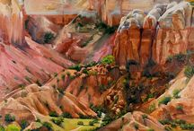 Stimulating Landscape Art. / Lots of Artists' interpretation of the landscapes they see in various media!