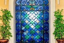 ólomüveg díszités decorative stained glasses