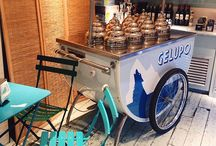 Gelupo ice cream cart / The dolce in la dolce vita, Gelupo is the finest artisan gelato experience this side of the Alps. Our chefs use choice English and Italian produce to make a delicious selection of gelati (ice cream), and sorbets fresh every day.