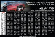 Personal Number Plates for Sale / New Advert - small selection of numbers available For more Reg Marks please visit www.registrationmarks.co.uk