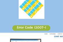 Error Codes 12XXX / List of Error Codes