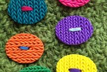 Polymer Clay Buttons - Botões