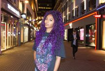 Boho Purple Haze Mermaid Locs