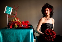 Modern Red and Teal Wedding