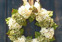 Hydrangea Door Wreath