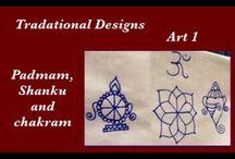 Dots Rangoli Art / Muggulu / Kolam