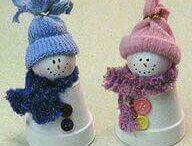 Clay Pot Snowman