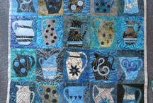 Quilts with cups and pots / Квилты с кружками и кувшинами