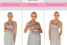 Multifunkční oblečení ...pro těhotné i kojící ženy / Oblečení pro celé období mateřství je praktické, pohodlné a půvoabné.