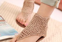 crochet sandals and slippers