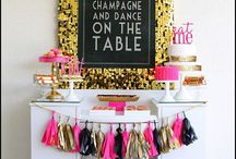 Party decor & food / party ideas