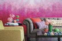 Poli-Farbe / colors, ombre, wall, inspiration, kisflanc.hu