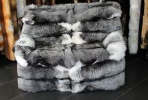 Real fur throws and blankets