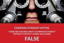 Common Eyesight Boards / Eyesight myths that just won't die! #eyesight #glasses #vision #myths #eyes