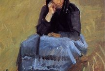 Art: Anna Ancher / Danish painter 1858-1935. Impressionism.