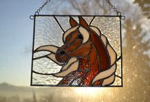 Ló üvegfestés