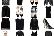 Black basic work wardrobes