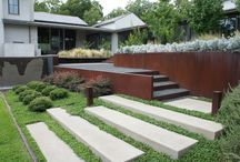 kerti lépcsők