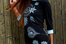 maľované šaty