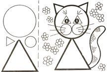 Geometrické tvary - zvířata