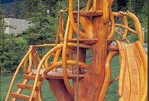 Timber playgrounds