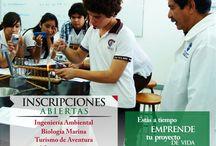 Oferta Educativa / Ingeniería Ambiental, Licenciatura en Biología Marina, Licenciatura en Turismo de Naturaleza y de Aventura, Licenciatura en Administración de Negocios Internacionales