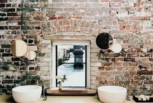 Bathroom Design / Our hand-made faux brick products featured in beautiful washrooms