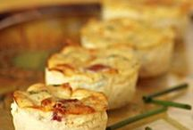 mini quiches  courgette  / lardons