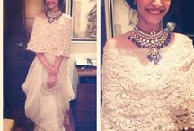 sonam kapoor / Sonam Kapoor is seen sporting a lot of Anamika Khanna designs. No doubt Anamika's Indian outfits becomes more glamorous the moment Sonam wears it. :)