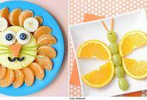 Comidinhas saudáveis pra crianças / Seus filhos têm dificuldade em comer coisas saudáveis? Quem sabe um pouco de criatividade não ajude :)