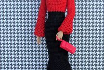 Barbie Clothes to Knit or inspire / Knit Clothing for Barbie, some crochet too