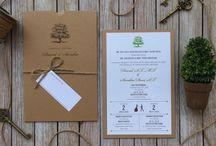 David & Sandra / Rustic Wedding Invitation