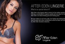After Eden Lingerie / After Eden is the lingerie label of choice for the modern woman. Offering a comfortable fit, superior quality and real value for money. After Eden is all about feeling good and looking great. Available at JAM Clothing