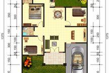 Denah Rumah 1 Lantai