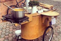 Street food booth