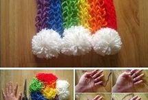 Finger/Arm knitting
