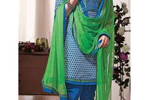 Cotton Punjabi Suits / Get yourself dressed in finest collection of Printed Cotton Punjabi Suits @ best prices from http://www.mishreesaree.com/Online/Salwar-Kameez/Casual-Punjabi-Suits