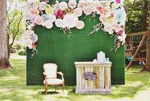 ✷ Wedding Backdrops / The backdrop you choose for your wedding may not be number one on your to-do list, but it can definitely add some charm to it. Lots of ideas and DIY projects here!