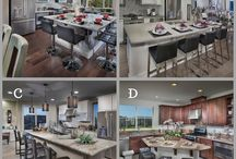 Avenue One - San Jose, CA / Kitchen islands are great for entertaining.  WHICH ONE if your favorite layout?  A, B, C, or D?  And why?  #dreamkitchens #LennarBayArea #AvenueOne All of these kitchens are from Avenue One in San Jose.  See more Lennar Homes - http://spr.ly/6498BIbwn